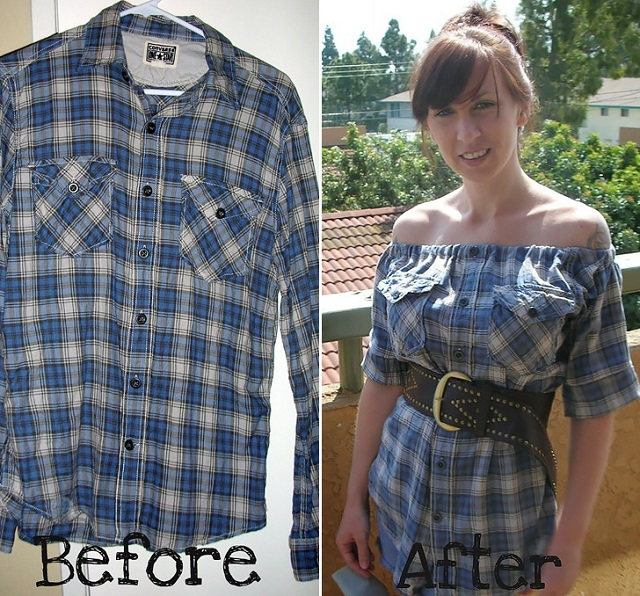 Feb 23,  · Trim off the flannel shirt's sleeves and excess fabric. Grab a pair of fabric shears or sharp scissors. Using the well-fitting shirt as a guide, trim off the baggy flannel shirt's sleeves, trim away their excess fabric, and remove the extra fabric from the sides of the shirt's body%(6).