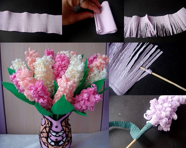 Beautiful Paper Flowers: Hyacinths - DIY - AllDayChic