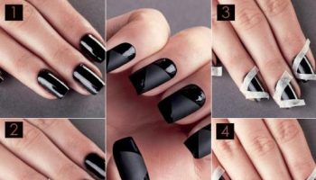Black Nail Design – DIY