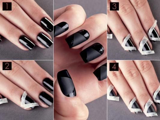 Black Nail Design - DIY - Black Nail Design - DIY - AllDayChic