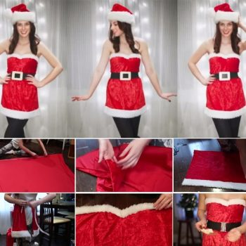 Christmas Santa Girl Costume – DIy