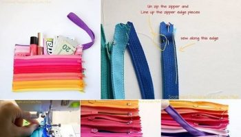 Colored Zipper Pouch – DIY