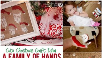 Family of Hand Print Santas – DIY