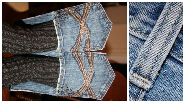 How to Make Denim House Slippers - DIY