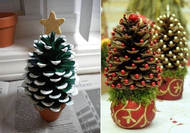 Mini Christmas Trees - DIY - AllDayChic