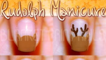 Nail Design Idea for Christmas – Rudolph Manicure