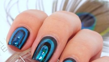 Peacock Nail Art Design – Tutorial