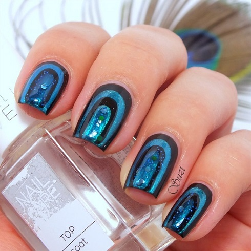 Peacock Nail Art Design - Tutorial