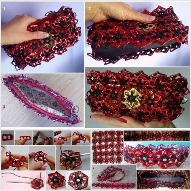 Stylish Bag Made of Pop Tabs - DIY