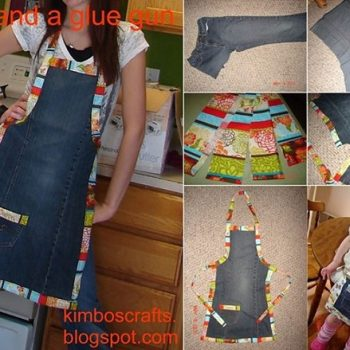 Turn Old Jeans into a Chic Apron – DIY