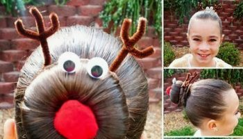 cute-hairstyles-rudolph-bun
