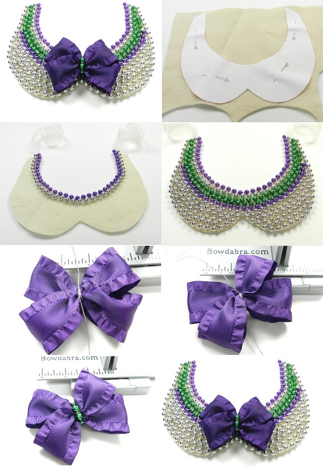 elegant beaded collar necklace