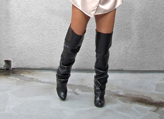 how to make the knee leather boots diy alldaychic