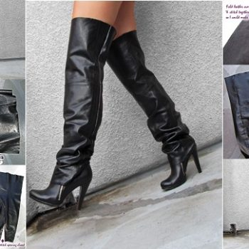 2. How to Make Over the Knee Leather Boots – DIY