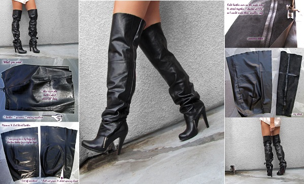 How To Make Over The Knee Leather Boots Diy Alldaychic