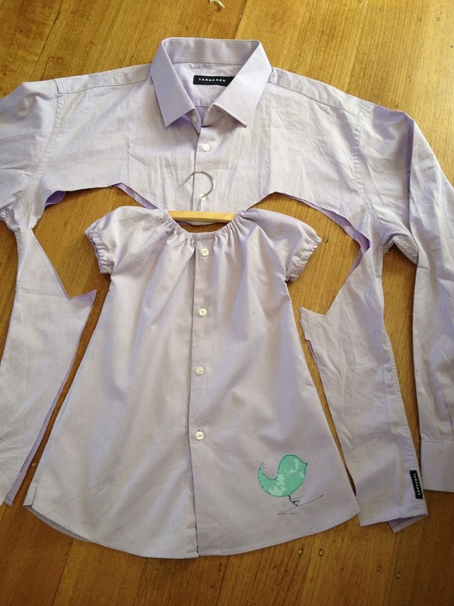 Baby Girl Dress Upcycled From Men S