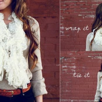 Beautiful Lace Scarf – DIY