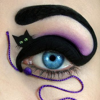 Black cat makeup Amazing Eye-Makeup Designs by Tal Peleg