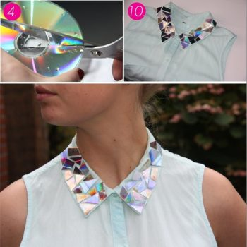 CD's Shining Effect on Your Clothes – DIY (2)