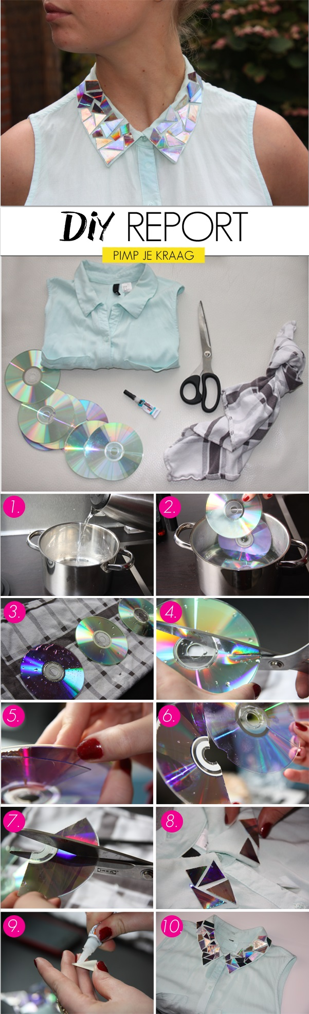 CD's Shining Effect on Your Clothes - DIY