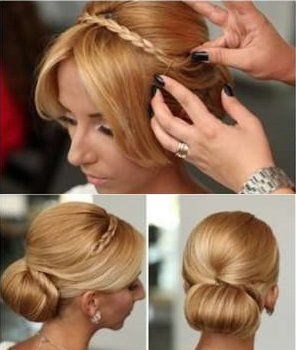 Chic and Elegant Hairstyle The Rolled Bun (2)