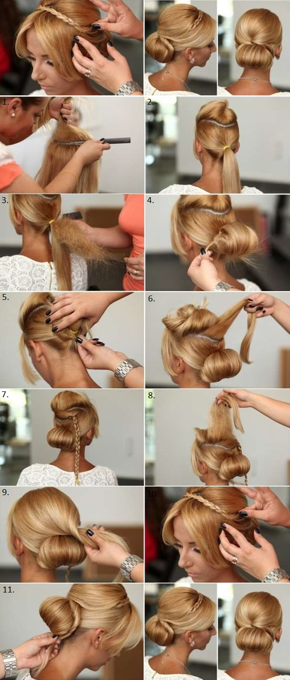 Chic and Elegant Hairstyle The Rolled Bun