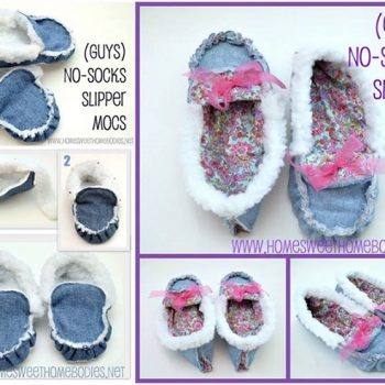 Cozy Slipper-Moccasins – DIY