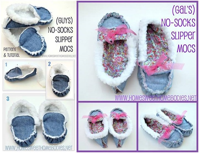Cozy Slipper-Moccasins - DIY