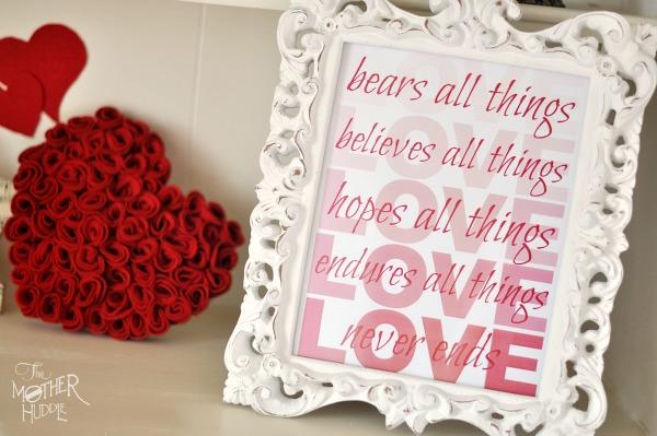 Felt Roses Heart