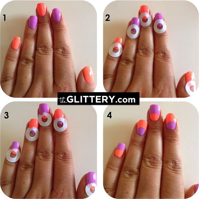 Half-Moon-Nail-Art-Tutorial - Half Moon Nail Design - AllDayChic