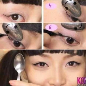 How To Draw Eyeliner With a Spoon – Copie
