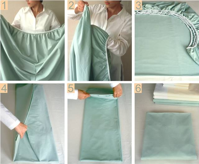 How to Fold a Fitted Sheet Easily - DIY