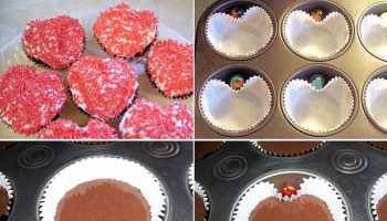 How to Make Heart Shaped Cupcakes Easily