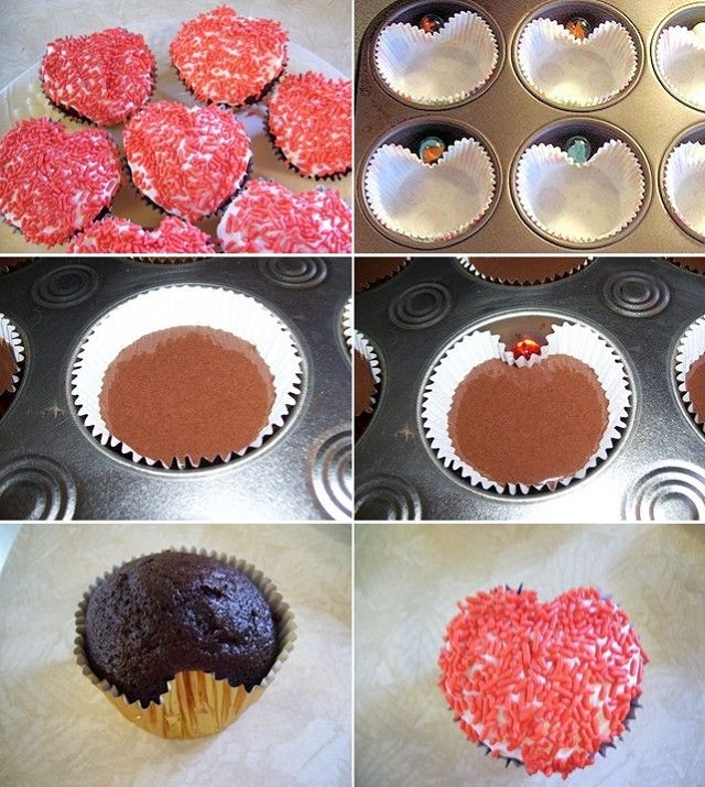 Baking Hacks How To Make Heart Shaped Cupcakes Alldaychic