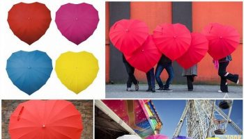 Lovely Heart Shaped Umbrella