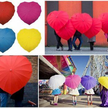Lovely Heart Shaped Umbrella