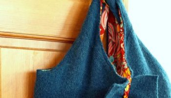 Turn an old Felted Wool Sweater into a Laptop Bag Case – DIY