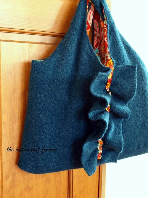 Turn an old Felted Wool Sweater into a Laptop Bag Case - DIY