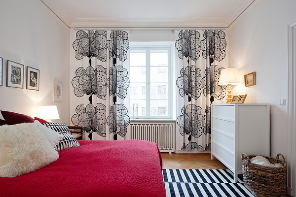 beautiful apartment with energy and color alldaychic ideas awesome small studio apartment decorating with unique curtains