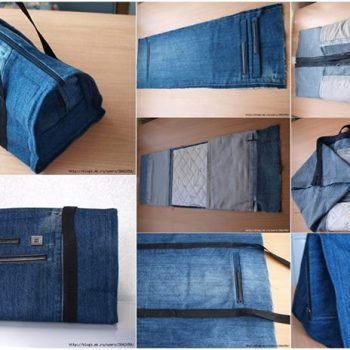 recycle old jeans into a bag