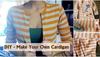 Cardigan Out of an Old Shirt – DIY (2)