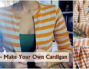 Cardigan Out of an Old Shirt – DIY (2)