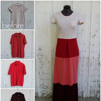 Colorblock T-shirt Dress – DIY