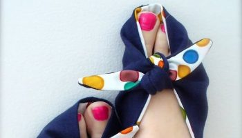 Gorgeous 80's Home Slippers – DIY (2)