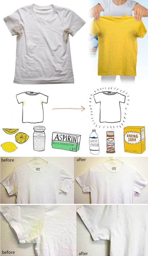 How to Remove Sweat Stains - DIY