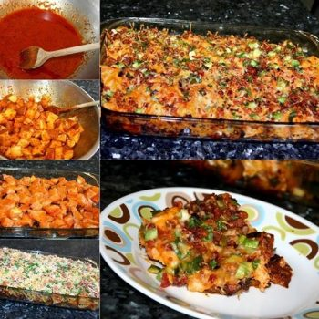 Loaded Potato & Buffalo Chicken Casserole – Recipe