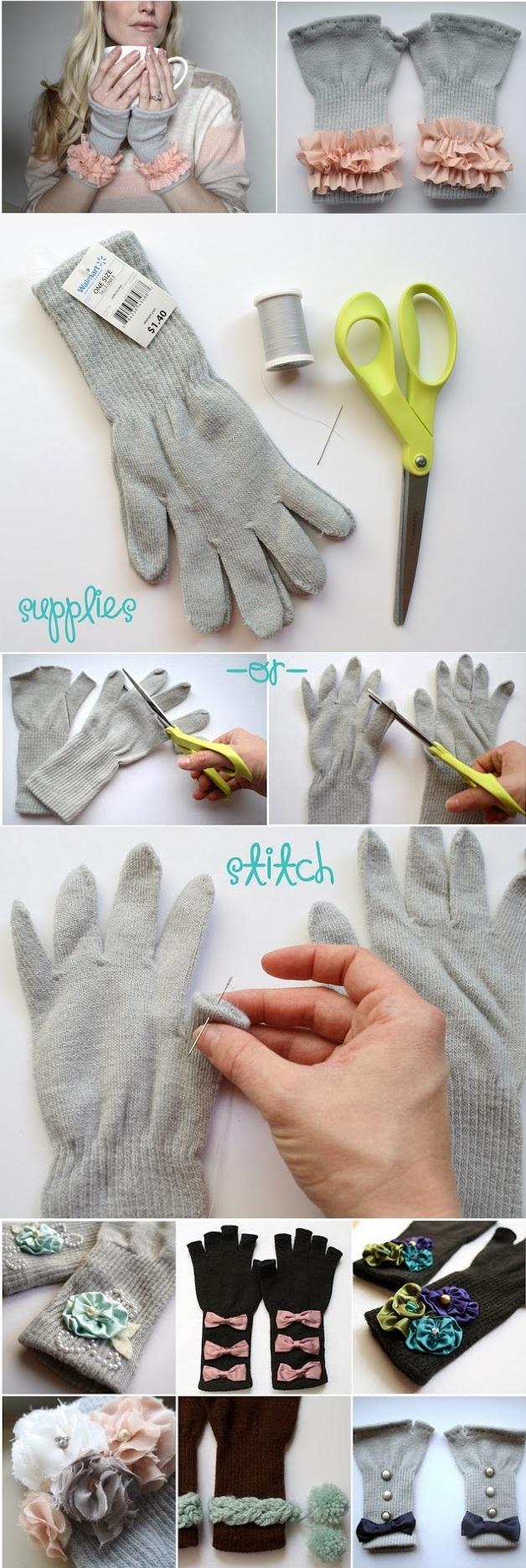 Fingerless gloves diy - Pretty Fingerless Gloves Diy 2