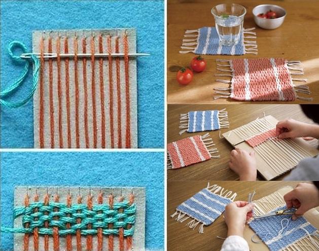 Woven Coasters - DIY