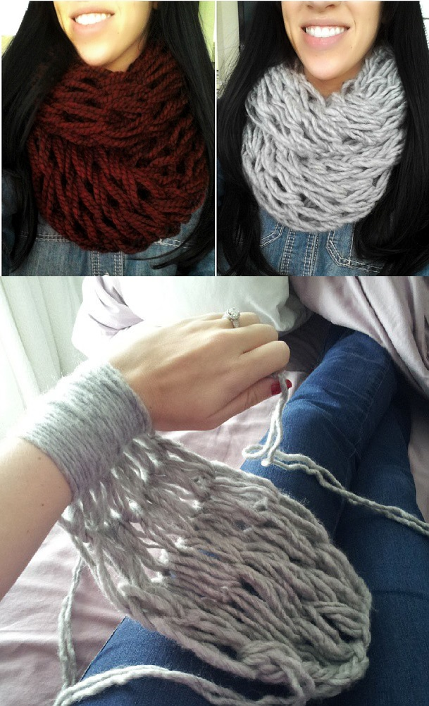 Hand Knitting With Arms : Related keywords suggestions for hand knit infinity scarf