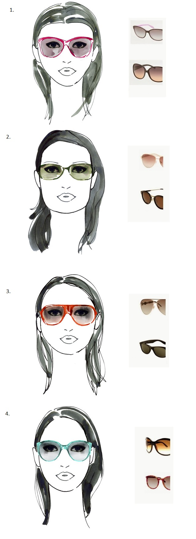 Face Shape Aviator Glasses